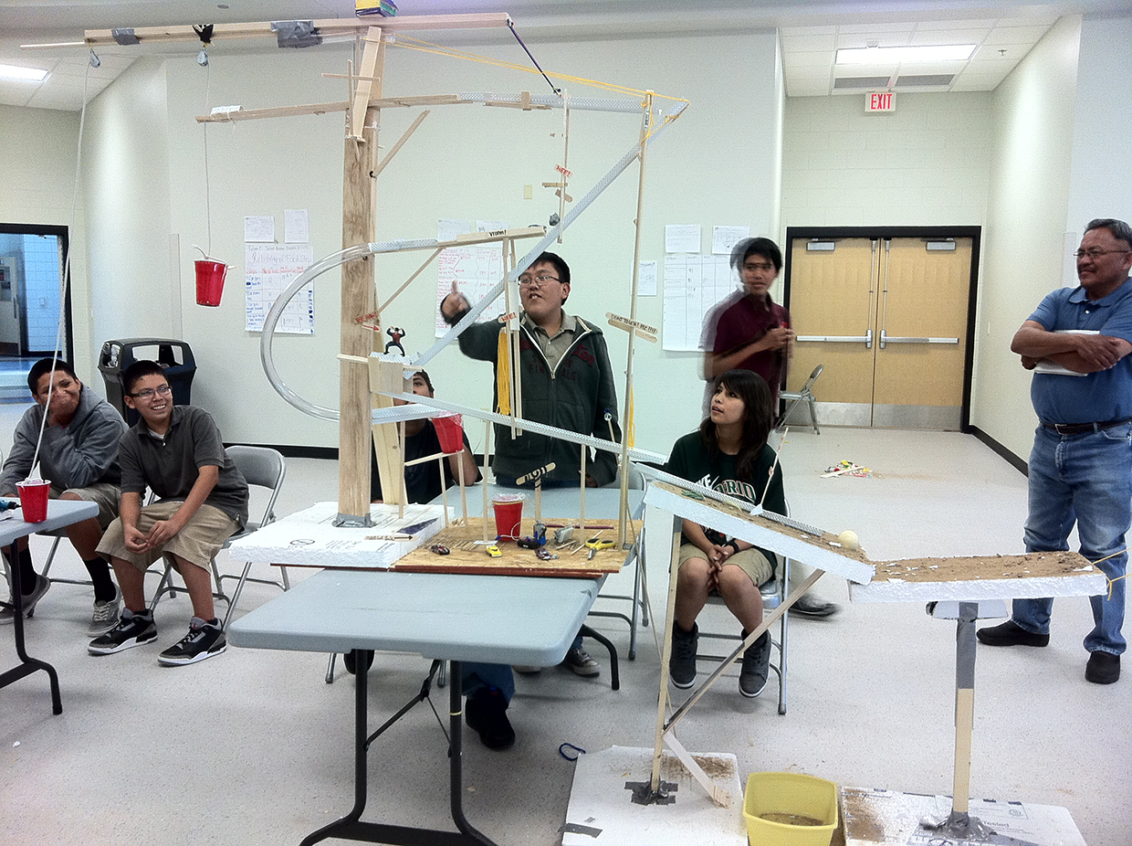 Developing engineering talent among Navajo youth with chain-reaction machines