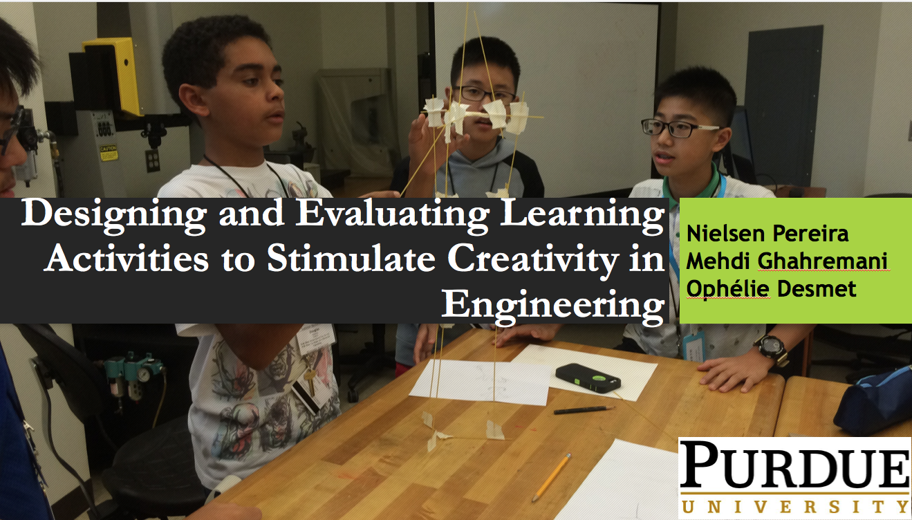 Designing and Evaluating Learning Activities to Stimulate Creativity in  Engineering