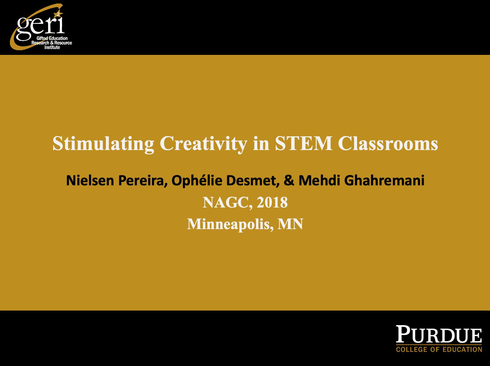 Stimulating Creativity in STEM Classrooms